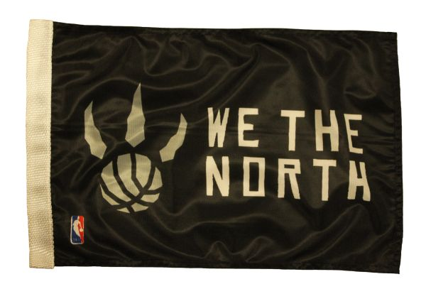 "WE THE NORTH , TORONTO RAPTORS 12"" X 18"" Inch FLAG BANNER With Sleeve Without STICK"