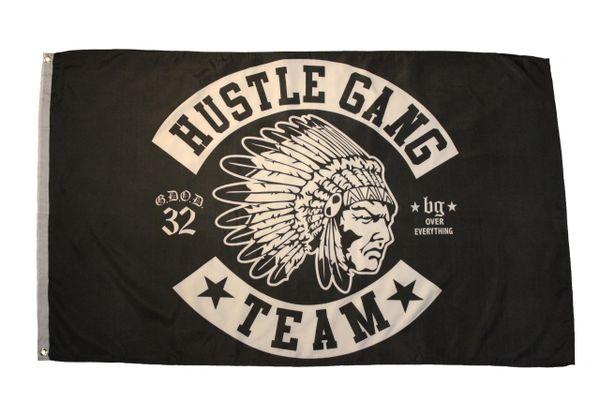 HUSTLE GANG * TEAM * Large 3' X 5' Feet FLAG BANNER