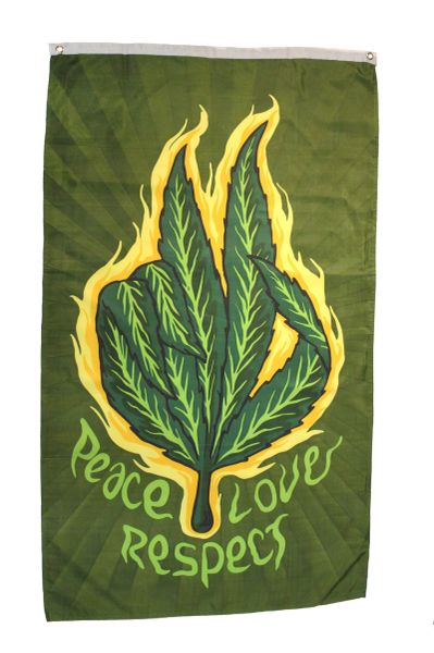 PEACE LOVE RESPECT Large 5' X 3' Feet BANNER FLAG