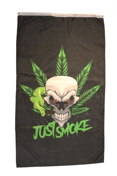 JUST SMOKE Large 5' X 3' Feet BANNER FLAG