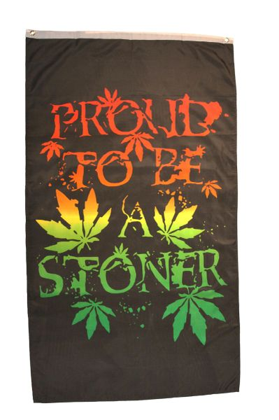PROUD TO BE A STONER Large 5' X 3' Feet BANNER FLAG
