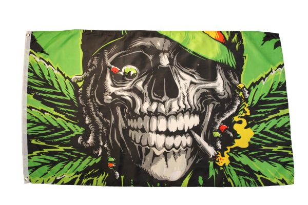 STONED TO THE BONE Large 3' X 5' Feet FLAG BANNER