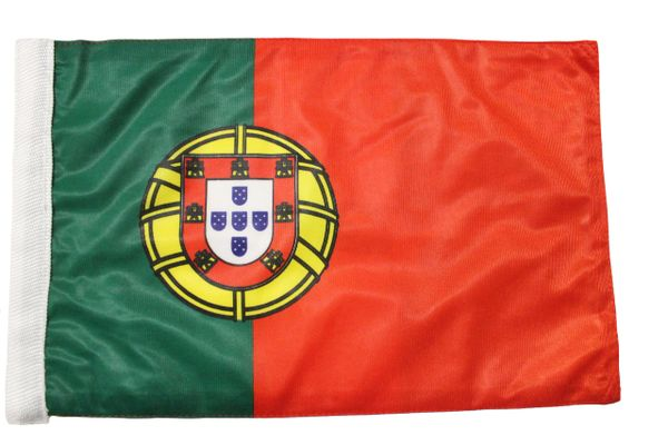 "PORTUGAL - AZORES Country 2 Sides 12"" X 18"" Inch CAR STICK FLAG Without Pole"