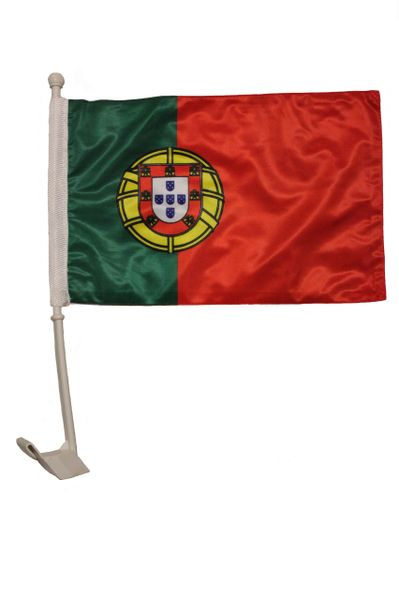 """PORTUGAL - AZORES Country 2 Sides 12"""" X 18"""" Inch CAR STICK FLAG"""