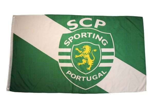 SPORTING SCP PORTUGAL Large 3' X 5' Feet FLAG BANNER