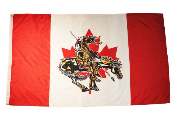 CANADA END Of TRAIL Large 3' X 5' Feet FLAG BANNER
