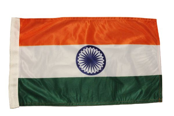"""INDIA Country 12"""" X 18"""" Inch CAR FLAG BANNER Without Pole"""