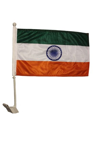 """INDIA Country 12"""" X 18"""" Inch CAR STICK FLAG"""