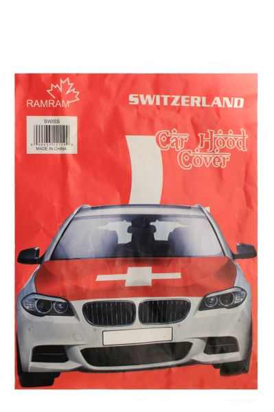 SWITZERLAND Country Flag CAR HOOD COVER