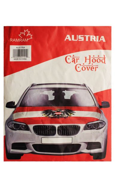 AUSTRIA Country Flag With Eagle CAR HOOD COVER