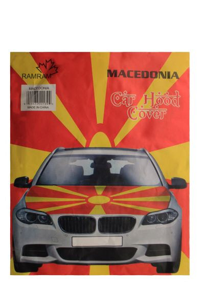 MACEDONIA ( New ) Country Flag CAR HOOD COVER