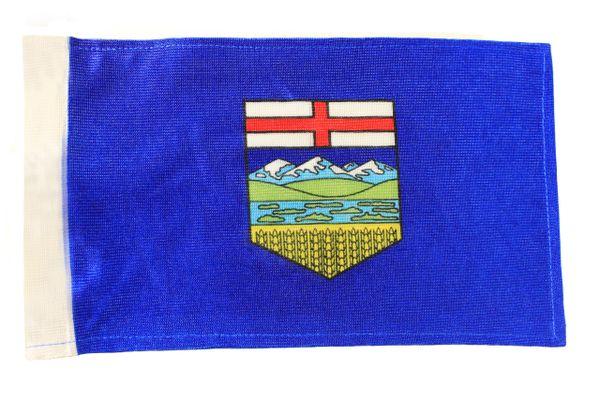 """ALBERTA CANADA Provincial 6"""" x 9"""" Inch CAR ANTENNA FLAG"""
