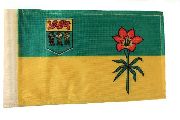 """SASKATCHEWAN CANADA Provincial 6"""" x 9"""" Inch CAR ANTENNA FLAG"""