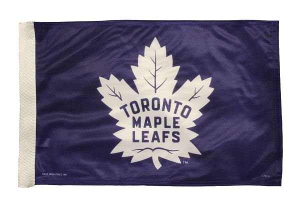 """TORONTO MAPLE LEAFS ( New ) Logo 12"""" X 18"""" Inch CAR FLAG BANNER Without Pole"""