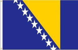 BOSNIA & HERZEGOVINA LARGE 3' X 5' FEET COUNTRY FLAG BANNER .. NEW AND IN A PACKAGE