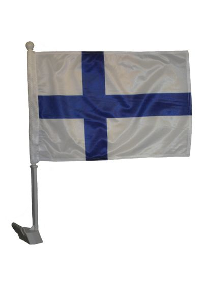 """FINLAND Country 12"""" X 18"""" Inch CAR FLAG BANNER"""