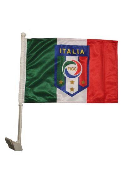 "ITALIA ITALY Country , 4 Stars , FIGC Logo 12"" X 18"" Inch CAR FLAG BANNER"