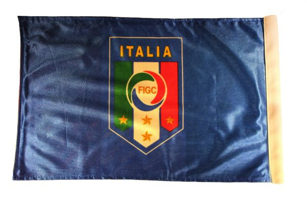 """ITALIA ITALY 4 Stars FIGC Logo & Country Flag 2 - Sided 12"""" X 18"""" Inch CAR FLAG BANNER Without Pole"""