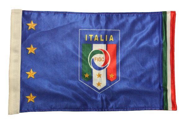 """ITALIA ITALY 4 Stars FIGC Logo & CANADA Country Flag 2 - Sided 12"""" X 18"""" Inch CAR FLAG BANNER Without Pole"""