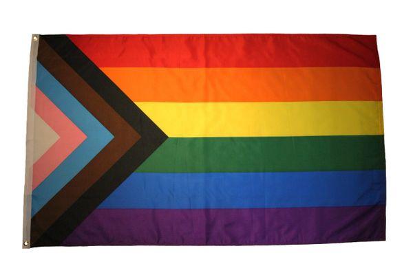 PROGRESS PRIDE Large 3' x 5' Feet FLAG BANNER