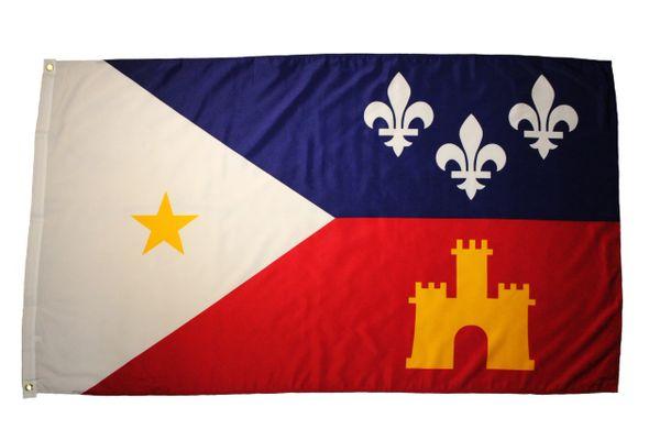 USA - ACADIA LOUISIANA Large 3' x 5' Feet FLAG BANNER
