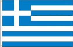 GREECE LARGE 3' X 5' FEET COUNTRY FLAG BANNER .. NEW AND IN A PACKAGE