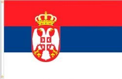 SERBIA LARGE 3' X 5' FEET COUNTRY FLAG BANNER .. NEW AND IN A PACKAGE
