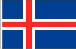 ICELAND LARGE 3' X 5' FEET COUNTRY FLAG BANNER .. NEW AND IN A PACKAGE