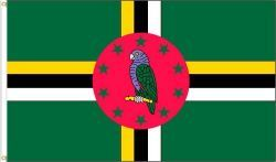 DOMINICA LARGE 3' X 5' FEET COUNTRY FLAG BANNER .. NEW AND IN A PACKAGE