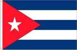 CUBA LARGE 3' X 5' FEET COUNTRY FLAG BANNER .. NEW AND IN A PACKAGE