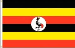 UGANDA LARGE 3' X 5' FEET COUNTRY FLAG BANNER .. NEW AND IN A PACKAGE