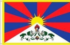 TIBET LARGE 3' X 5' FEET COUNTRY FLAG BANNER .. NEW AND IN A PACKAGE