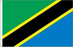 TANZANIA LARGE 3' X 5' FEET COUNTRY FLAG BANNER .. NEW AND IN A PACKAGE