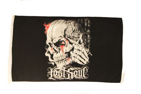 LOST SOUL - SKULL PICTURE 3' X 5' FEET PICTURE FLAG BANNER .. NEW AND IN A PACKAGE