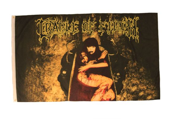 CRADLE OF FILTH 3' X 5' FEET PICTURE FLAG BANNER .. NEW AND IN A PACKAGE