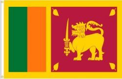 SRI LANKA LARGE 3' X 5' FEET COUNTRY FLAG BANNER .. NEW AND IN A PACKAGE
