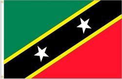 ST. KITTS & NEVIS LARGE 3' X 5' FEET COUNTRY FLAG BANNER .. NEW AND IN A PACKAGE