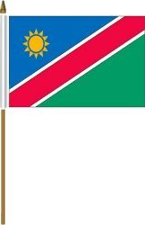 "NAMIBIA 4"" X 6"" INCHES MINI COUNTRY STICK FLAG BANNER ON A 10 INCHES PLASTIC POLE .. NEW AND IN A PACKAGE."
