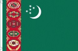 TURKMENISTAN LARGE 3' X 5' FEET COUNTRY FLAG BANNER .. NEW AND IN A PACKAGE