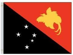 PAPUA NEW GUINEA LARGE 3' X 5' FEET COUNTRY FLAG BANNER .. NEW AND IN A PACKAGE