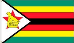 ZIMBABWE LARGE 3' X 5' FEET COUNTRY FLAG BANNER .. NEW AND IN A PACKAGE