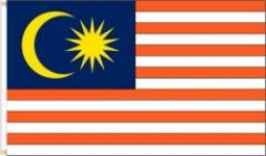 MALAYSIA LARGE 3' X 5' FEET COUNTRY FLAG BANNER .. NEW AND IN A PACKAGE