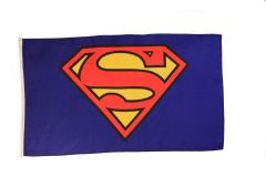 SUPERMAN 3' X 5' FEET PICTURE FLAG BANNER .. NEW AND IN A PACKAGE