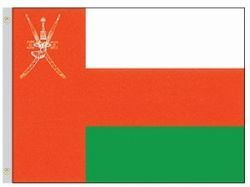 OMAN LARGE 3' X 5' FEET COUNTRY FLAG BANNER .. NEW AND IN A PACKAGE