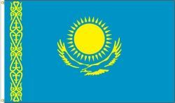 KAZAKHSTAN LARGE 3' X 5' FEET COUNTRY FLAG BANNER .. NEW AND IN A PACKAGE