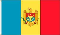 MOLDOVA LARGE 3' X 5' FEET COUNTRY FLAG BANNER .. NEW AND IN A PACKAGE