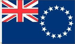 COOK ISLANDS LARGE 3' X 5' FEET COUNTRY FLAG BANNER .. NEW AND IN A PACKAGE