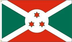 BURUNDI 3' X 5' FEET COUNTRY FLAG BANNER .. NEW AND IN A PACKAGE
