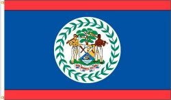 BELIZE 3' X 5' FEET COUNTRY FLAG BANNER .. NEW AND IN A PACKAGE