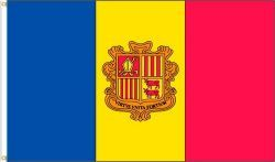ANDORRA 3' X 5' FEET COUNTRY FLAG BANNER .. NEW AND IN A PACKAGE